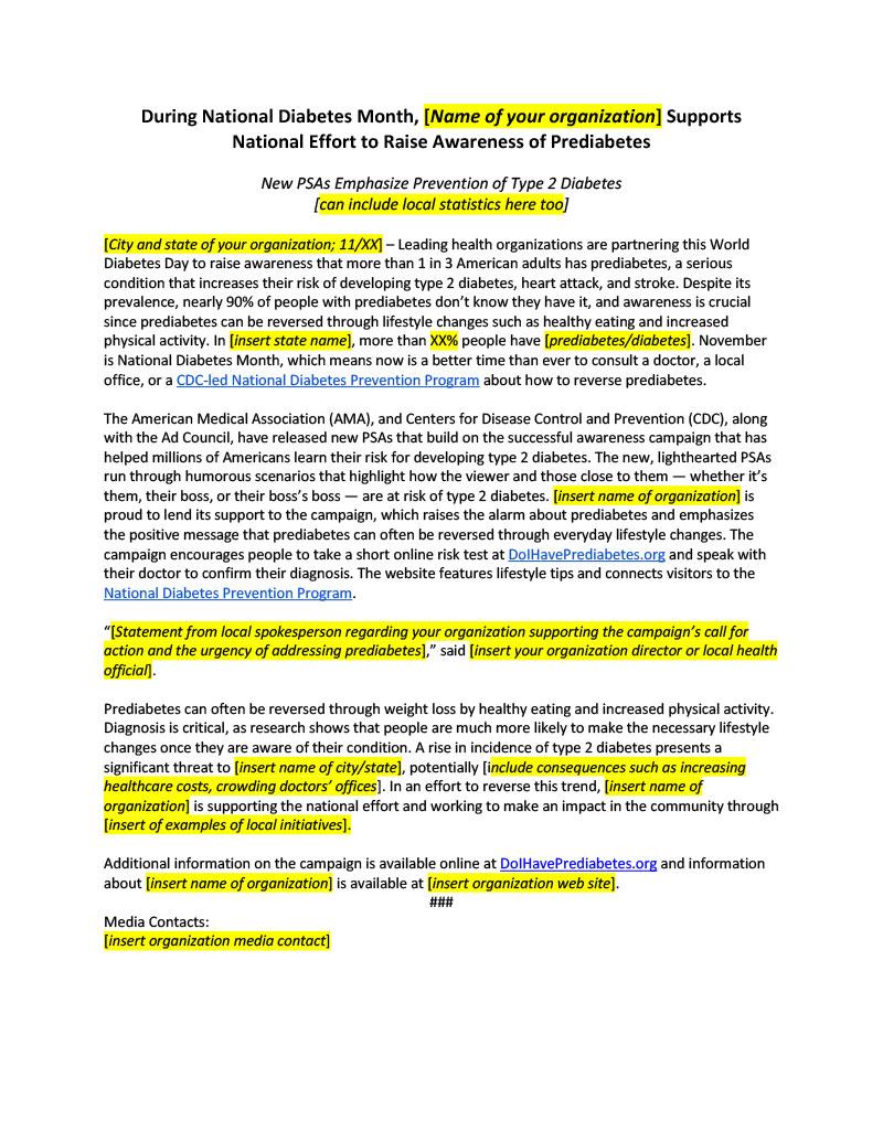 Type2DiabetesPrevention_Customizeable_Press_Release_2018